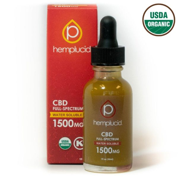hemplucid organic water soluble CBD 1500mg