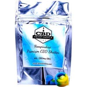 CBD Hemp Indica Shatter With Real Cannabis Terpene Profiles