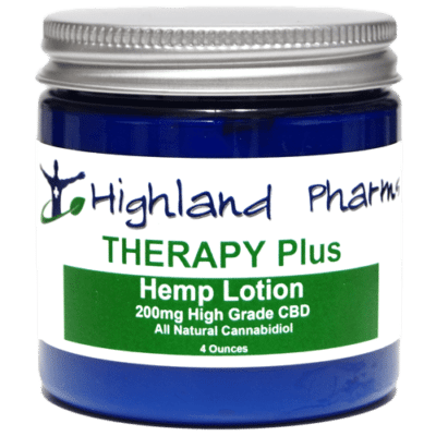 Highland Pharms Therapy Plus Hemp Lotion 4 ounce