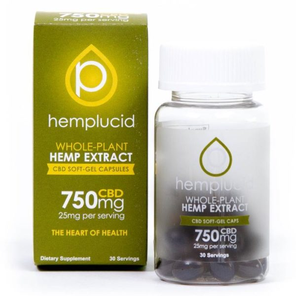 Hemplucid Soft-gel CBD Capsules 25mg