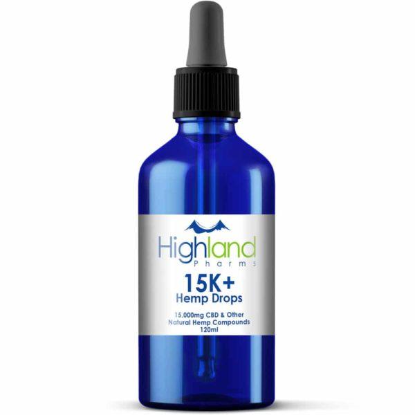 Highland Pharms 15k+ CBD Hemp Oil Drops