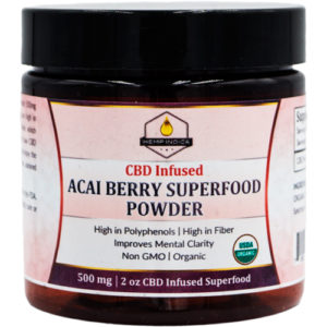 500mg CBD acai berry powder