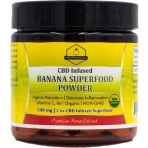 500mg CBD 56 grams Organic Banana Powder