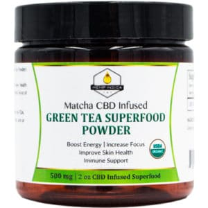 500mg CBD matcha powder