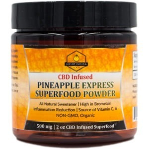500mg CBD pineapple express powder