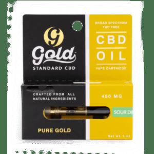 gold standard cbd distillate vape cartridge