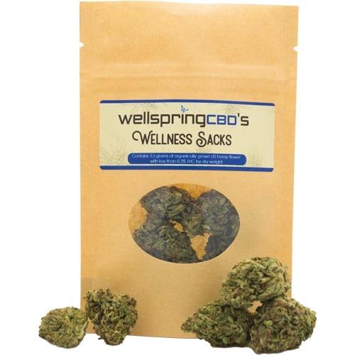 Organic Top Shelf Hemp Flower - Wellspring CBD's Wellness Sacks