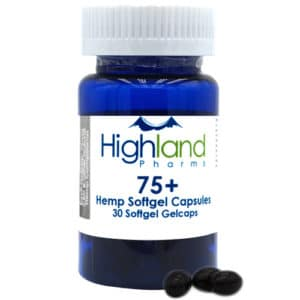 highland pharms 75mg cbd softgel capsules