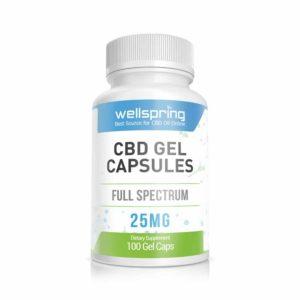 25mg cbd gel capsules 100 count