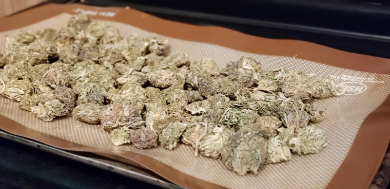 Oven Baking Method for Decarboxylating cannabis