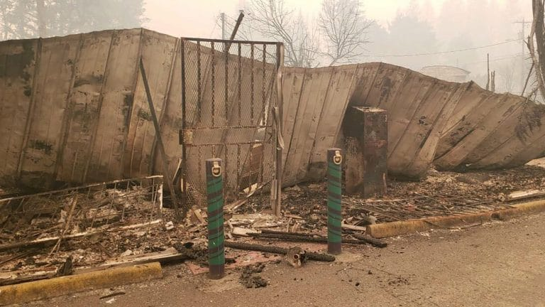 Fire Ravaged Dispensary in Gates, OR