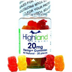 highland pharms hemp plus natural cbd gummies 20mg