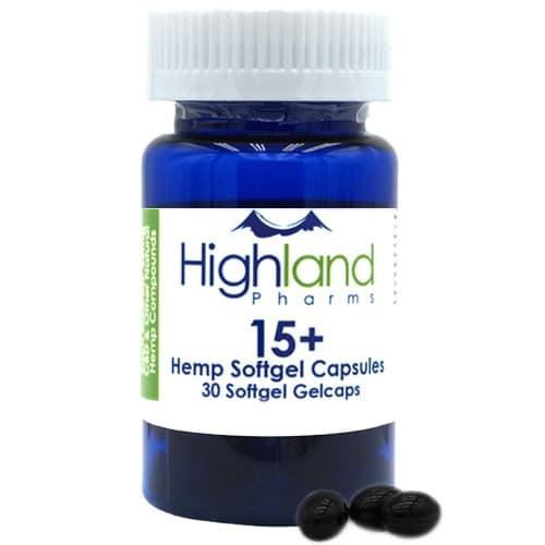 Highland Pharms 15mg CBD Gel Caps Capsules