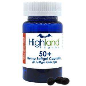 Highland Pharms Hemp Plus 50mg CBD Gel Caps - WellspringCBD.com
