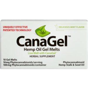 CanaGel Hemp Oil Gel Melts CBD Strips