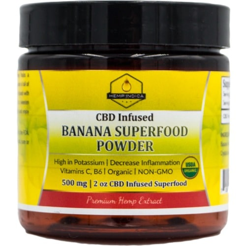 500mg CBD 56 grams Organic Banana Powder